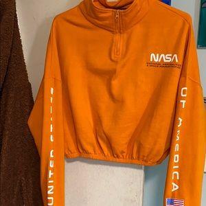 NASA half zip sweatshirt
